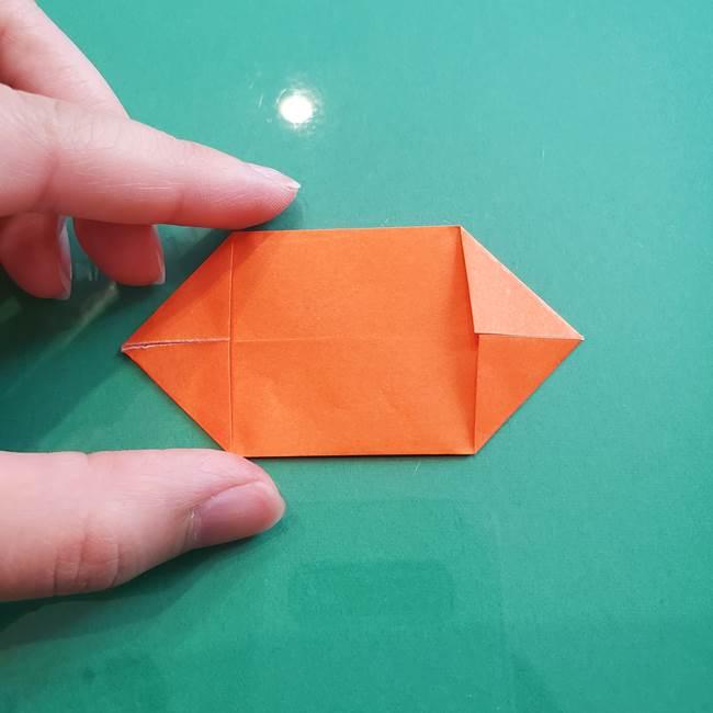 ヒトカゲの折り紙の簡単な折り方作り方③しっぽ(5)