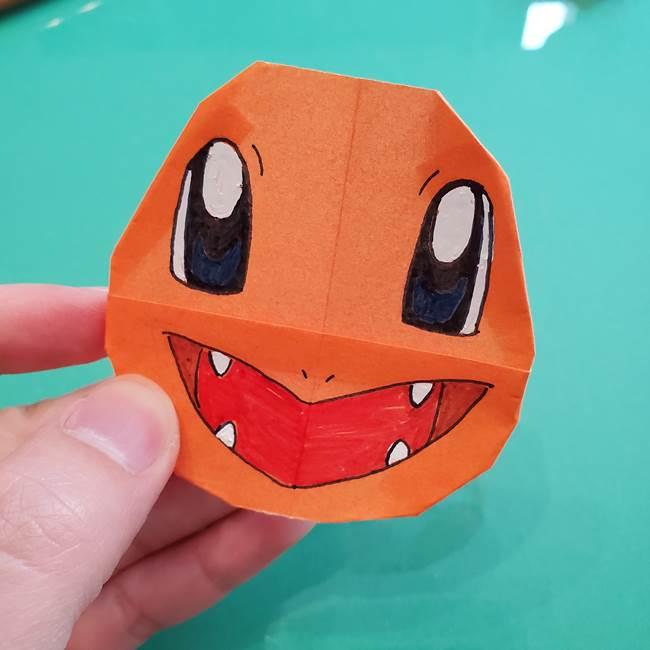 ヒトカゲの折り紙の簡単な折り方作り方④完成(2)