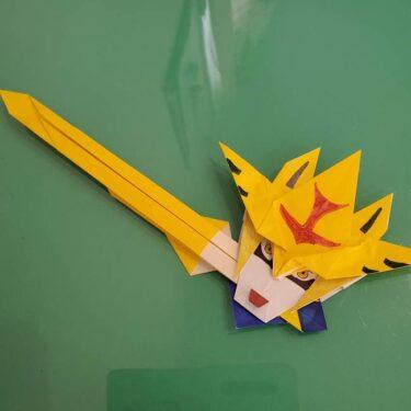 ポケモンの折り紙ザシアンは簡単な折り方?作り方動画を見て作ったみた!