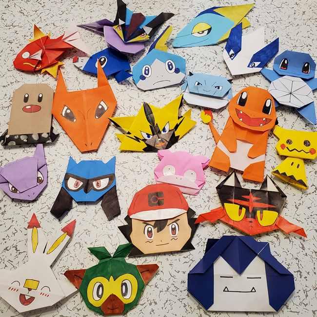 ポケモンの折り紙 カビゴンの簡単な折り方作り方まとめ
