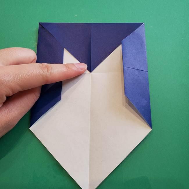 ポケモンの折り紙 カビゴンの簡単な折り方作り方(10)