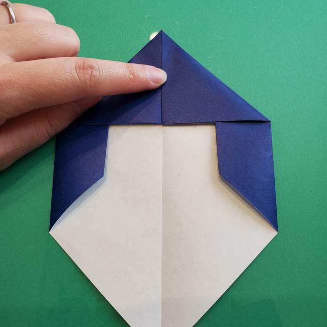 ポケモンの折り紙 カビゴンの簡単な折り方作り方(11)
