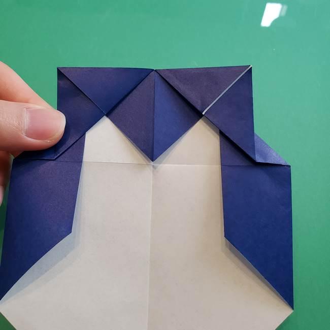 ポケモンの折り紙 カビゴンの簡単な折り方作り方(13)