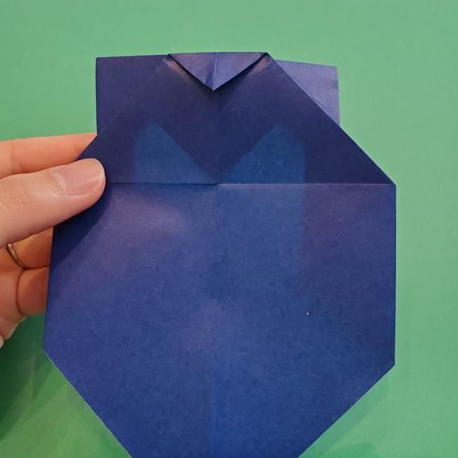 ポケモンの折り紙 カビゴンの簡単な折り方作り方(14)