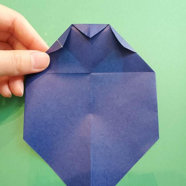 ポケモンの折り紙 カビゴンの簡単な折り方作り方(15)