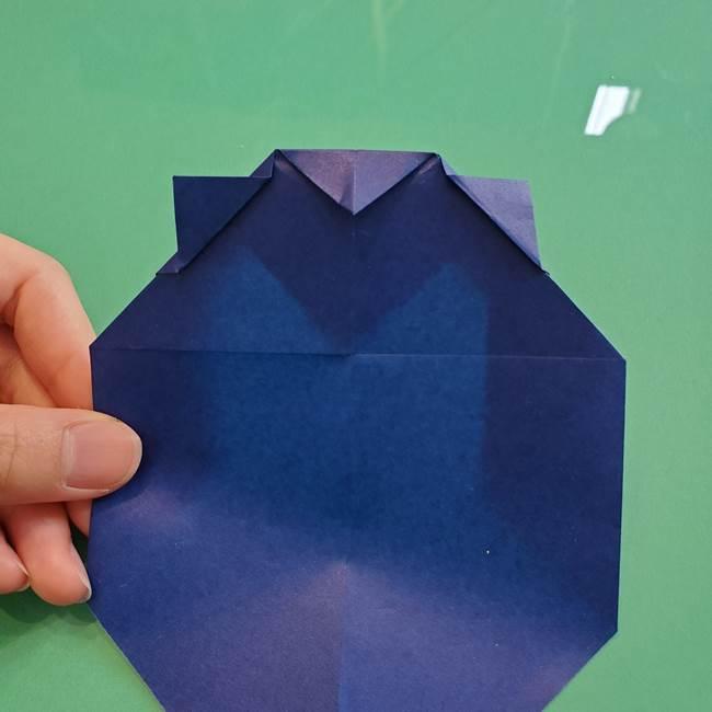ポケモンの折り紙 カビゴンの簡単な折り方作り方(16)