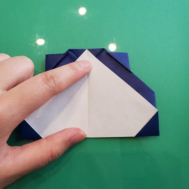 ポケモンの折り紙 カビゴンの簡単な折り方作り方(17)