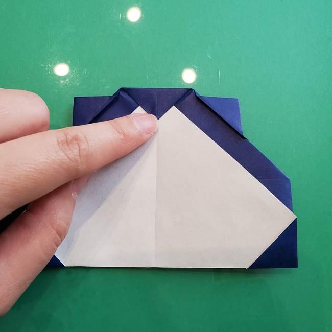 ポケモンの折り紙 カビゴンの簡単な折り方作り方(18)
