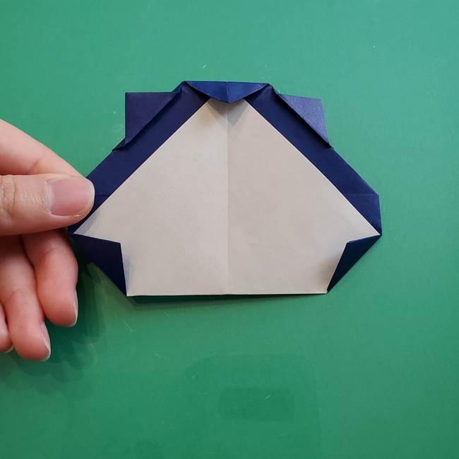 ポケモンの折り紙 カビゴンの簡単な折り方作り方(19)
