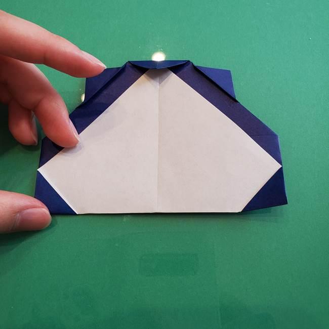 ポケモンの折り紙 カビゴンの簡単な折り方作り方(20)