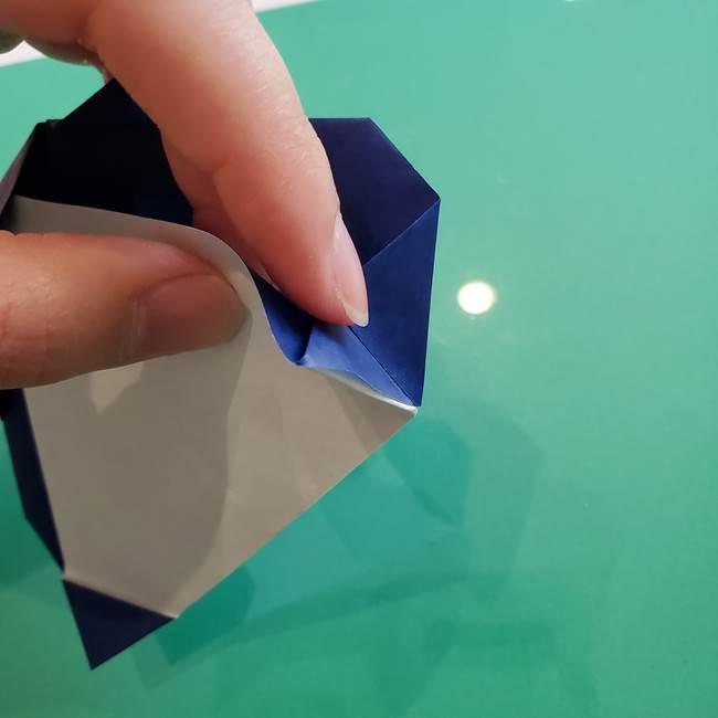 ポケモンの折り紙 カビゴンの簡単な折り方作り方(21)