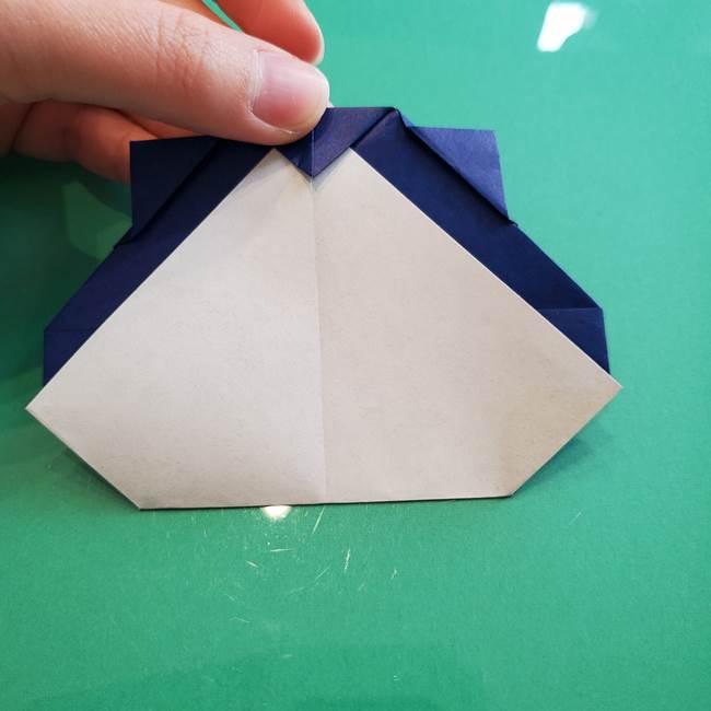 ポケモンの折り紙 カビゴンの簡単な折り方作り方(22)