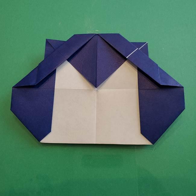 ポケモンの折り紙 カビゴンの簡単な折り方作り方(23)
