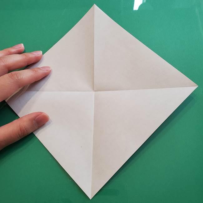 ポケモンの折り紙 カビゴンの簡単な折り方作り方(4)