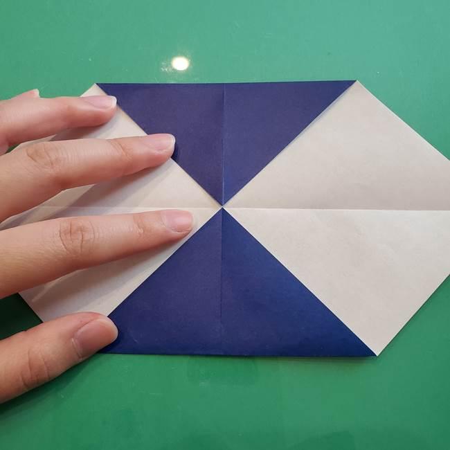 ポケモンの折り紙 カビゴンの簡単な折り方作り方(5)