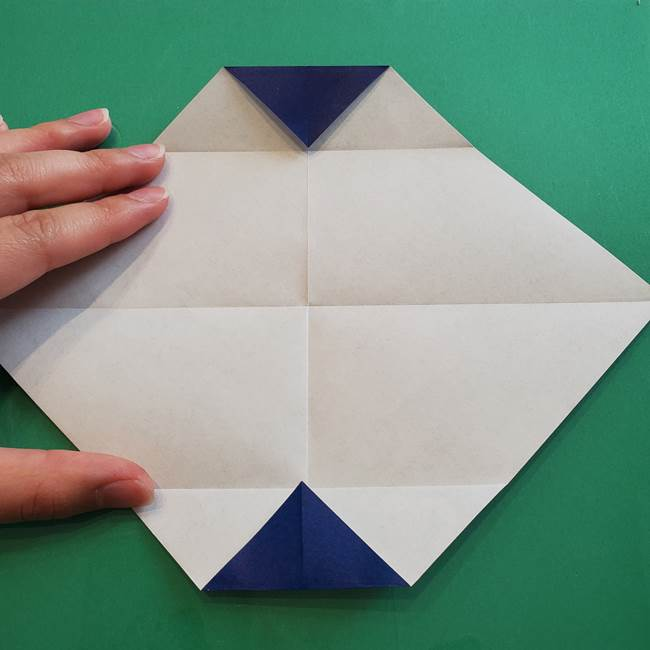 ポケモンの折り紙 カビゴンの簡単な折り方作り方(7)