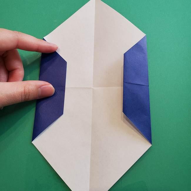ポケモンの折り紙 カビゴンの簡単な折り方作り方(9)