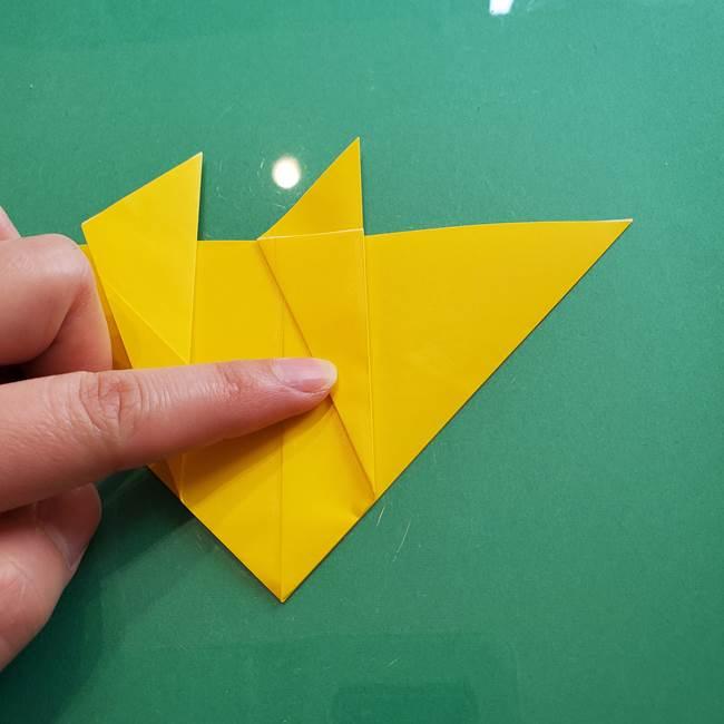 ポケモンの折り紙 ニャビーの折り方作り方①折り方(19)