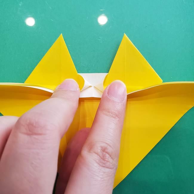 ポケモンの折り紙 ニャビーの折り方作り方①折り方(35)
