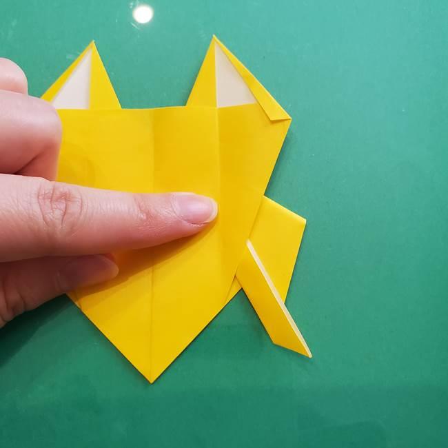 ポケモンの折り紙 ニャビーの折り方作り方①折り方(40)