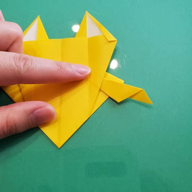 ポケモンの折り紙 ニャビーの折り方作り方①折り方(42)