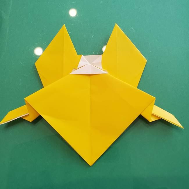 ポケモンの折り紙 ニャビーの折り方作り方①折り方(44)