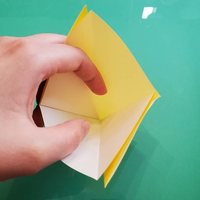 ポケモンの折り紙 ニャビーの折り方作り方①折り方(8)