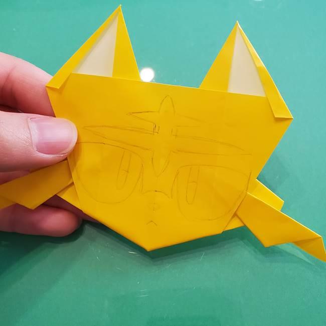 ポケモンの折り紙 ニャビーの折り方作り方②顔の描き方(1)