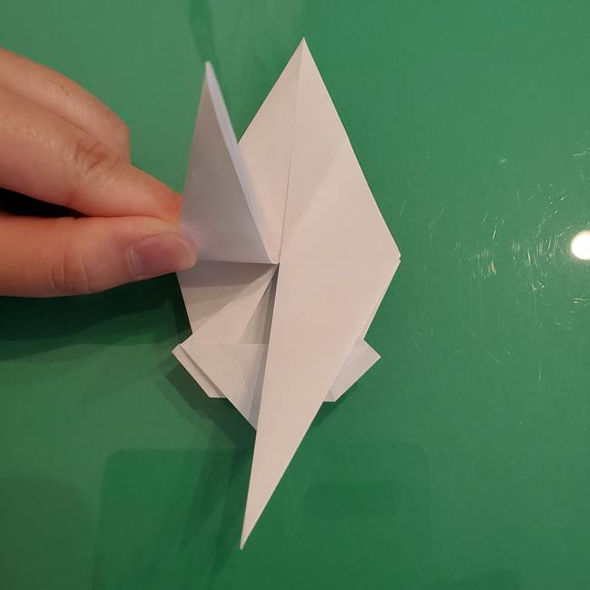 ポケモンの折り紙 ワンパチの折り方作り方①折り方(30)