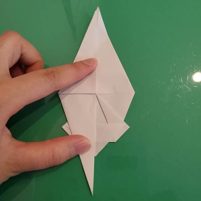 ポケモンの折り紙 ワンパチの折り方作り方①折り方(34)