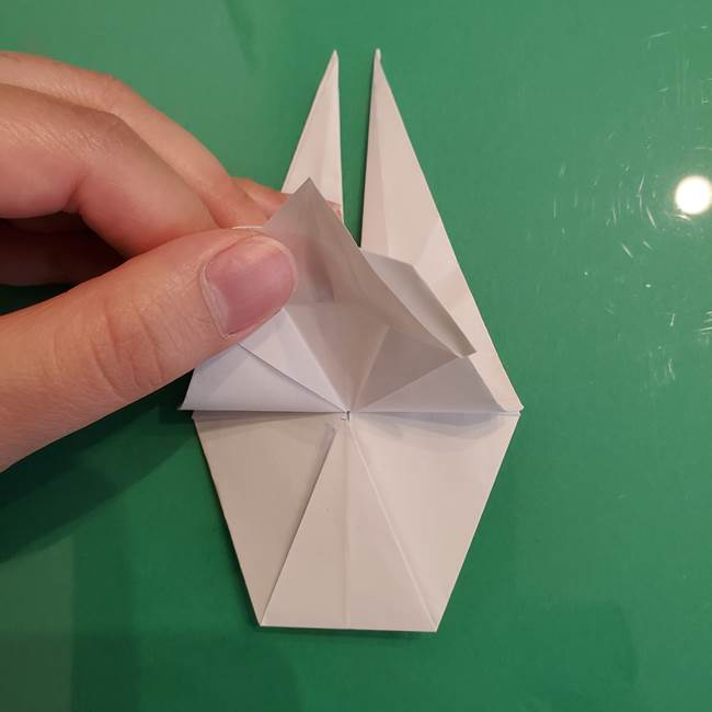ポケモンの折り紙 ワンパチの折り方作り方①折り方(39)