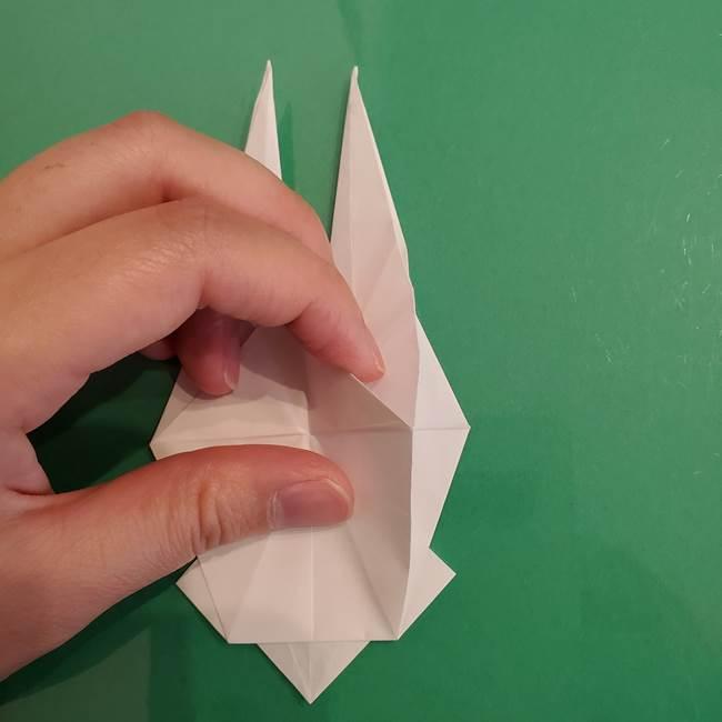 ポケモンの折り紙 ワンパチの折り方作り方①折り方(40)