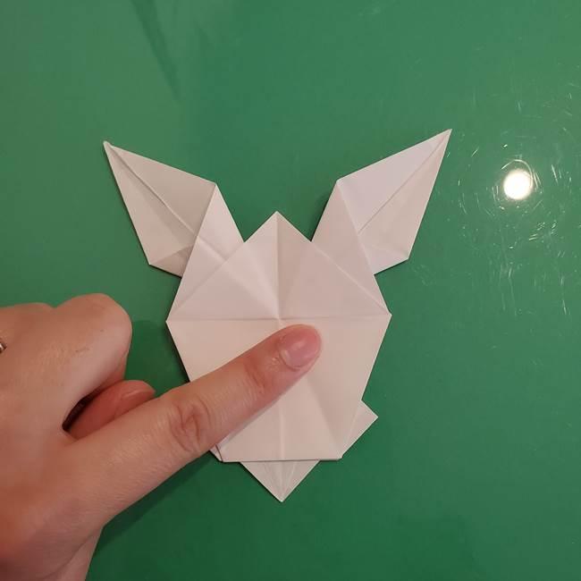 ポケモンの折り紙 ワンパチの折り方作り方①折り方(45)