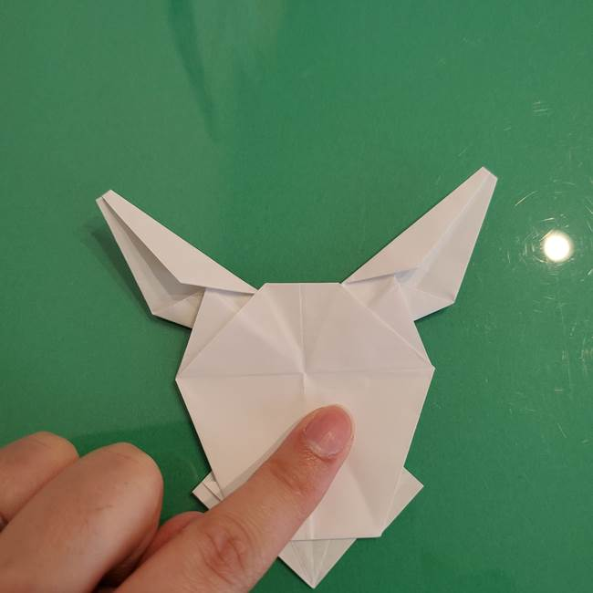 ポケモンの折り紙 ワンパチの折り方作り方①折り方(48)