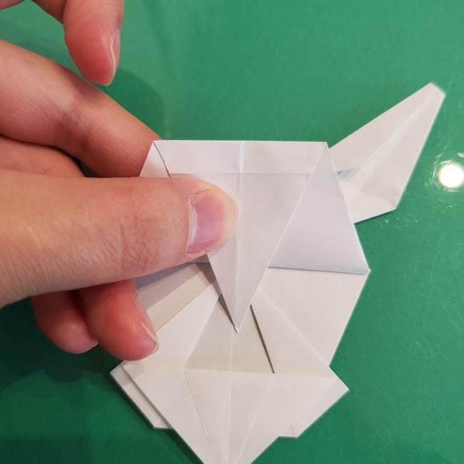 ポケモンの折り紙 ワンパチの折り方作り方①折り方(50)