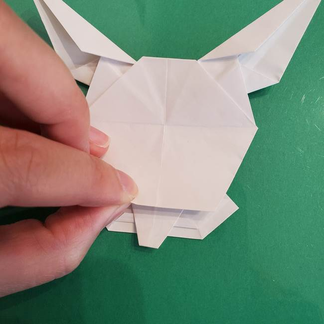 ポケモンの折り紙 ワンパチの折り方作り方①折り方(56)