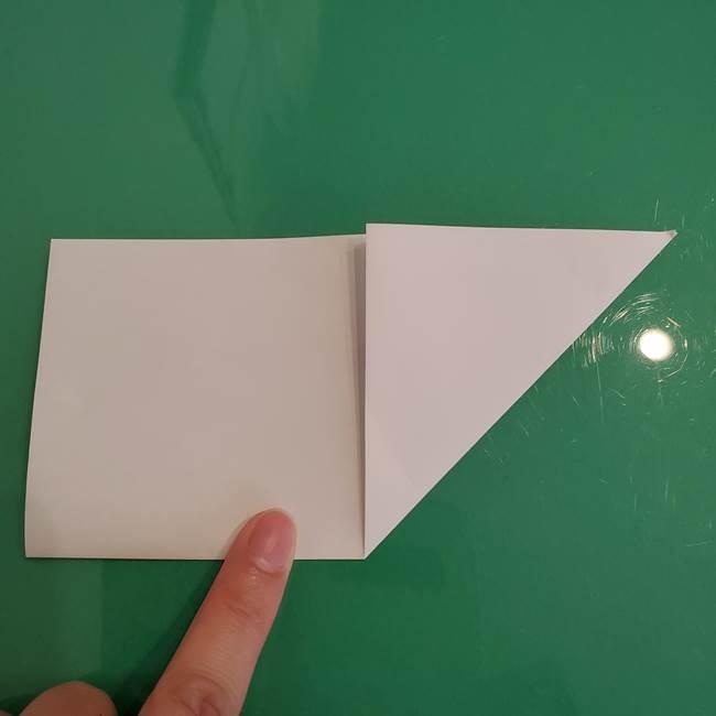 ポケモンの折り紙 ワンパチの折り方作り方①折り方(6)