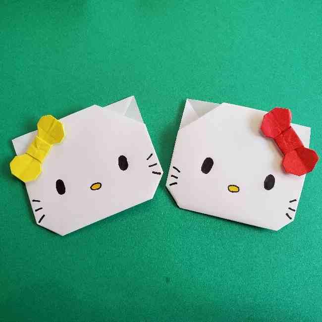 ミミィちゃんの折り紙はキティーちゃんと同じ折り方で作れる!