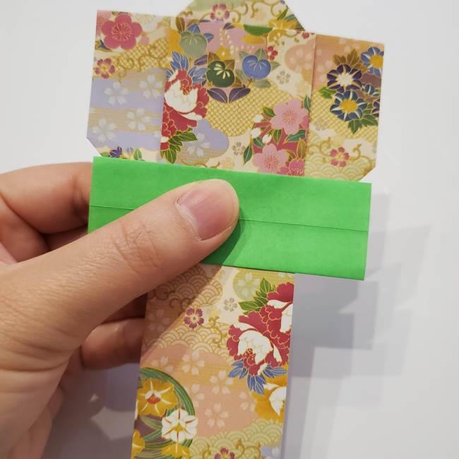 女性用の浴衣の帯の折り方結び方(5)