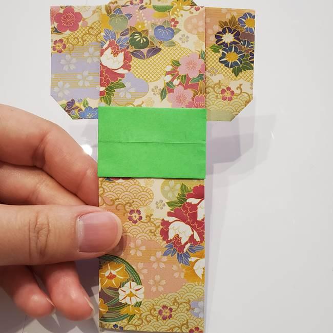 女性用の浴衣の帯の折り方結び方(6)