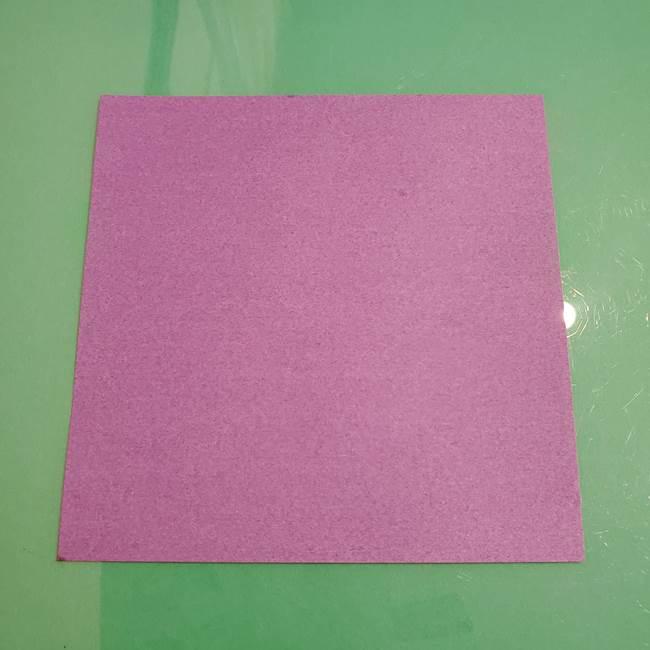 折り紙でなすを立体的につくる折り方作り方①実(1)