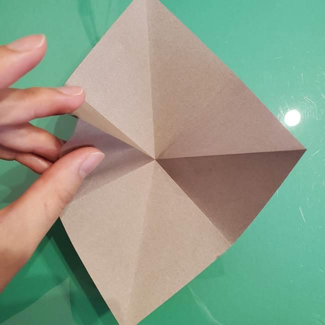 折り紙でなすを立体的につくる折り方作り方①実(10)