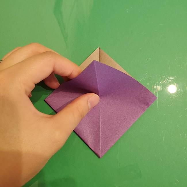 折り紙でなすを立体的につくる折り方作り方①実(12)