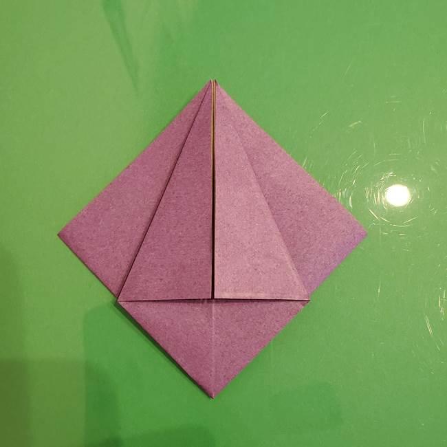 折り紙でなすを立体的につくる折り方作り方①実(13)
