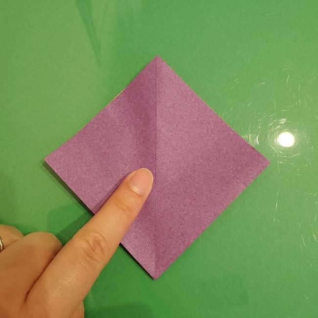 折り紙でなすを立体的につくる折り方作り方①実(14)