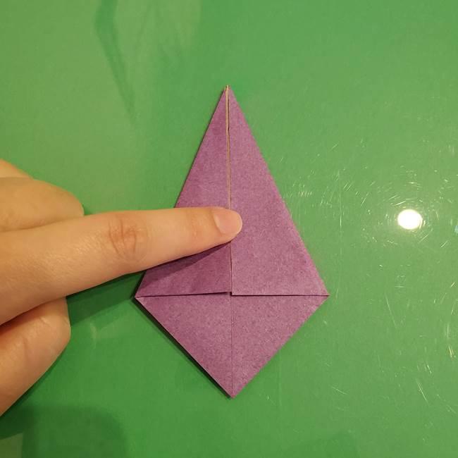 折り紙でなすを立体的につくる折り方作り方①実(15)