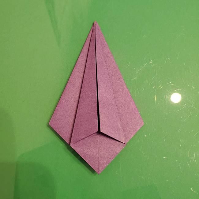 折り紙でなすを立体的につくる折り方作り方①実(16)