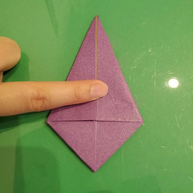 折り紙でなすを立体的につくる折り方作り方①実(17)