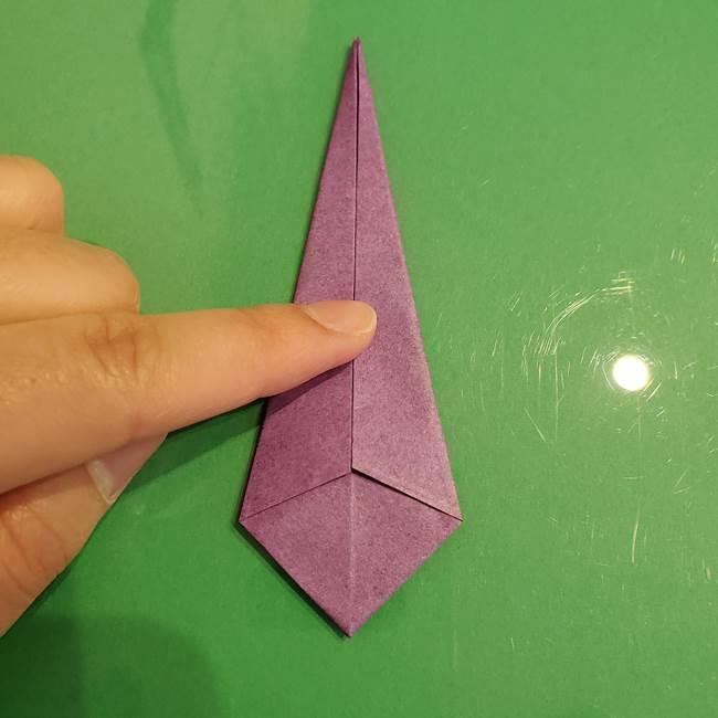 折り紙でなすを立体的につくる折り方作り方①実(18)