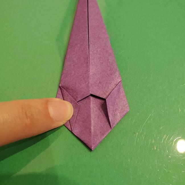 折り紙でなすを立体的につくる折り方作り方①実(19)
